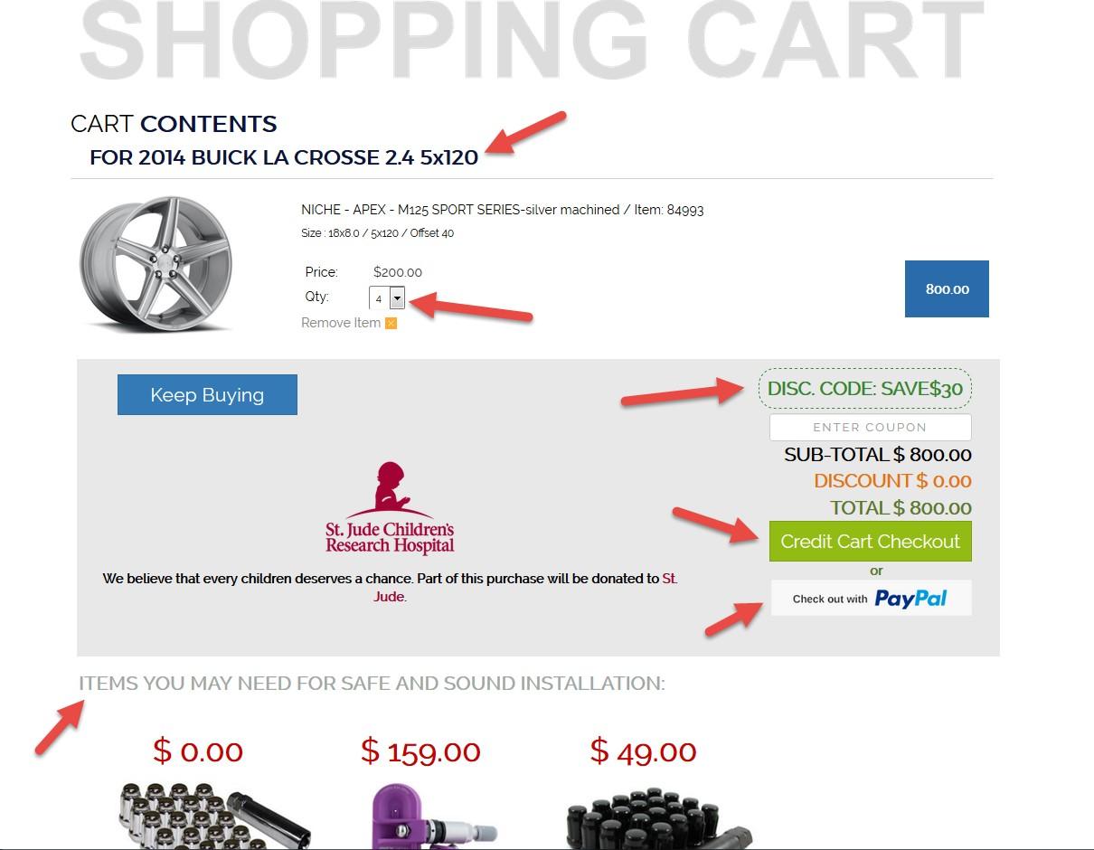 rideonrims shopping cart