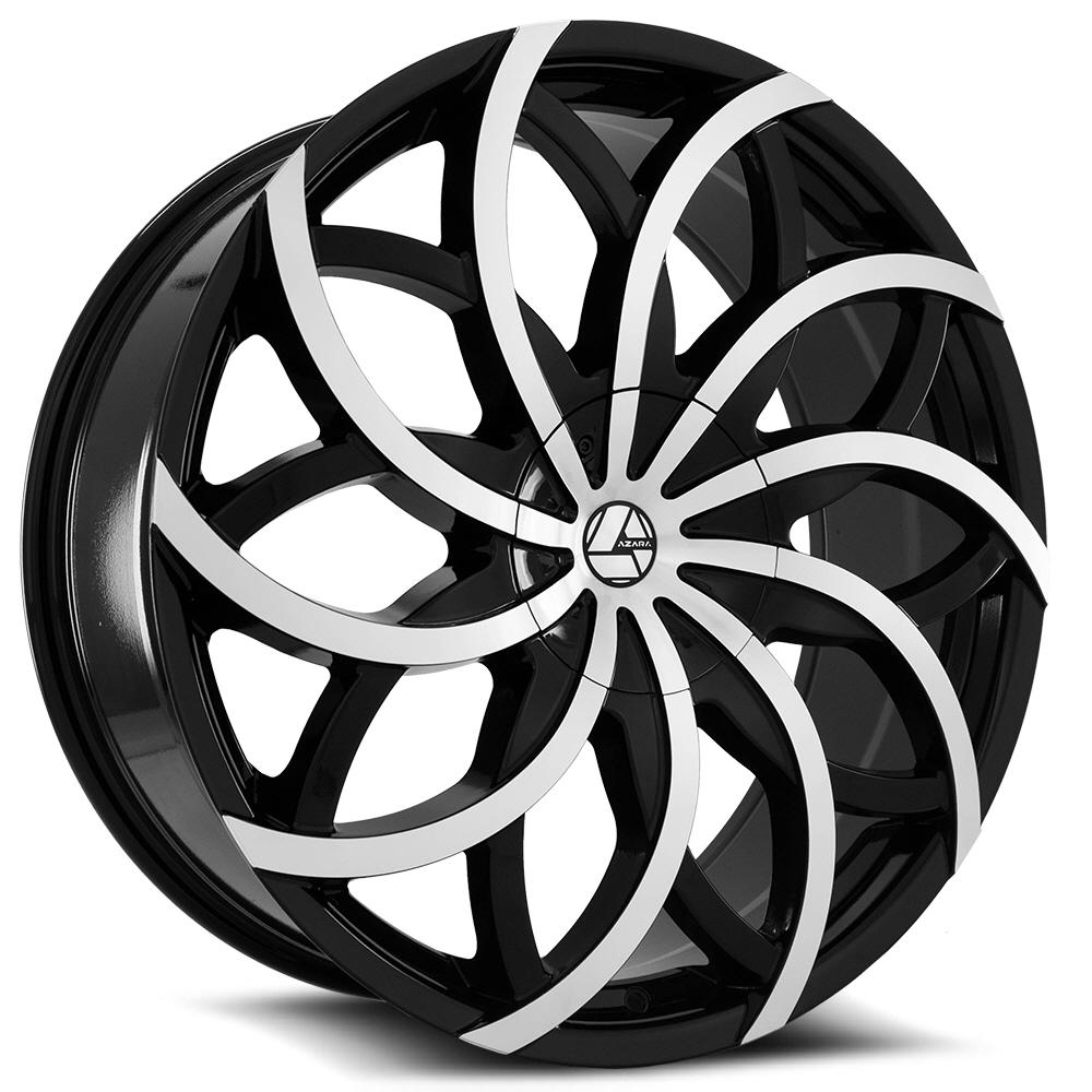 Black Machined Wheels at Rideonrims