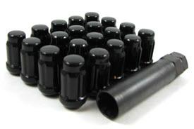 BLACK LUGS - SET (5 LUG KIT)