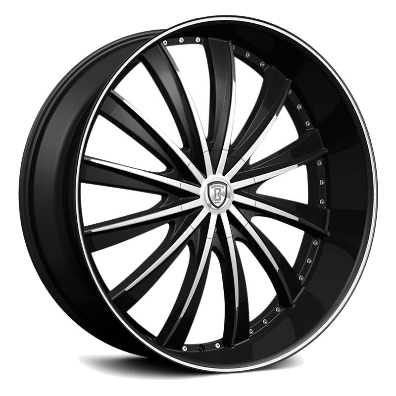 Borghini B19 Black Machined Wheels And Rims Packages At Rideonrims Com
