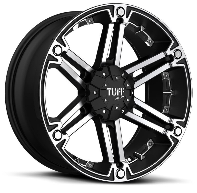 Tuff T01 Flat Black Machined Face Wheels And Rims Packages At