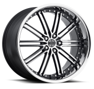 2CRAVE - NO.33-gloss black with machined face chrome lip