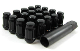 BLACK LUGS - SET (5 LUG KIT)