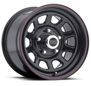 AMERICAN RACING - AR767-gloss black steel with red and blue stripe