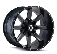 CALI OFFROAD - BUSTED-satin black milled spokes