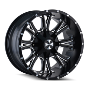 CALI OFFROAD - AMERICANA-satin black milled spokes