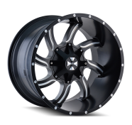 CALI OFFROAD - TWISTED-satin black milled spokes