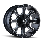 CALI OFFROAD - ANARCHY-satin black milled spokes