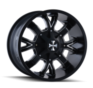 CALI OFFROAD - DIRTY-satin black milled spokes