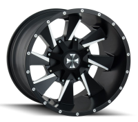 CALI OFFROAD - DISTORTED-satin black milled spokes