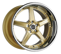 VERTINI WHEELS - DRIFT-machine gold chrome lip