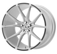 ASANTI BLACK - ABL-13 VEGA -brushed silver w/ carbon fiber inserts