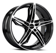 HD WHEELS - FLY-CUTTER-gloss black machined face