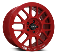 HD WHEELS - GEAR-gloss red w milling