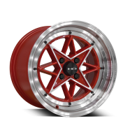 HD WHEELS - RS-L-gloss red machined