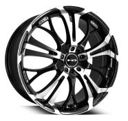 HD WHEELS - SPINOUT-gloss black machined