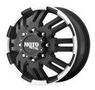 MOTO METAL - MO963 -matte black machined dually - front