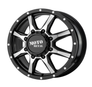 MOTO METAL - MO995 -glossblack machined - front