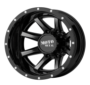 MOTO METAL - MO995 -glossblack machined - rear