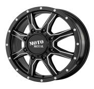 MOTO METAL - MO995 -satinblack milled - front