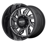 MOTO METAL - MO997 HURRICANE -glossblack milled - left directional