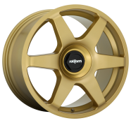 ROTIFORM - R118 - 18X8.5 5X100.00/5X112.00 MATTE GOLD (45 MM) -rotiform 1pc six matte gold