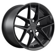 ROTIFORM - R134 - 18X8.5 5X108.00 MATTE BLACK (45 MM) -rotiform 1pc flg matte black