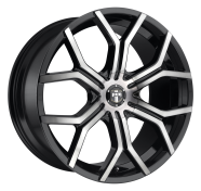 DUB - S209 ROYALTY -dub 1pc royalty gloss machined double dark tint