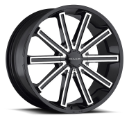 KMC - KM681  NERVE-gloss black machined