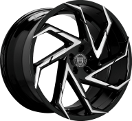 LEXANI - 667 - CYCLONE-gloss black mach spokes
