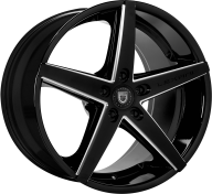 LEXANI - R-FOUR-gloss black & milled spokes