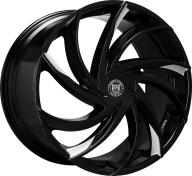 LEXANI - 673 - TWISTER / CAP-gloss black mach tip