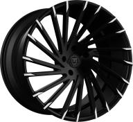 LEXANI - 663 - WRAITH / 6-LUG-gloss black mach tip - lug cap