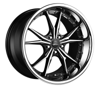 VERTINI WHEELS - DARK KNIGHT-machine black chrome lip