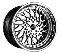 VERTINI WHEELS - HELLFIRE-machine black chrome lip