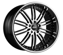 VERTINI WHEELS - HENNESSEY-machine black chrome lip