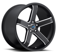 MACH - ME5 - EURO CONCAVE-satin black mill machined