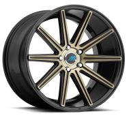 MACH - ME9 - EURO CONCAVE-glossy black titanium bronze face