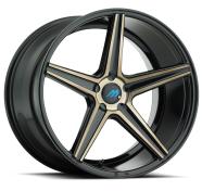 MACH - ME1 - EURO CONCAVE-glossy black titanium bronze face