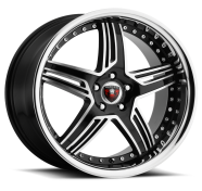 MERCELI - M13 - CHROME LIP-black machined