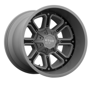 MOTO METAL - MO984-matte gray with gloss black inserts