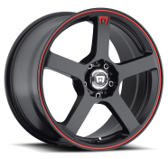 MOTEGI - MR116-matte black  with red racing stripe