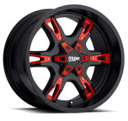 MOTO METAL - MO969-satin black with red accents