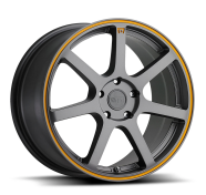MOTEGI - MR132-matte gray w/ orange stripe on flange