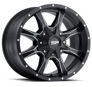 MOTO METAL - MO970-semi gloss black with milled spokes and accents