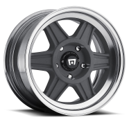 MOTEGI - MR124 - 2PC-mag gray w/ machined lip