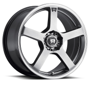 MOTEGI - MR116-dark silver with machined flange