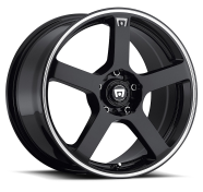 MOTEGI - MR116-gloss black with machined flange