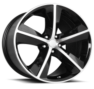 OE CREATIONS - PR123-gloss black machined spokes and lip
