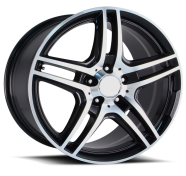 OE CREATIONS - PR136-gloss black machined spokes lip